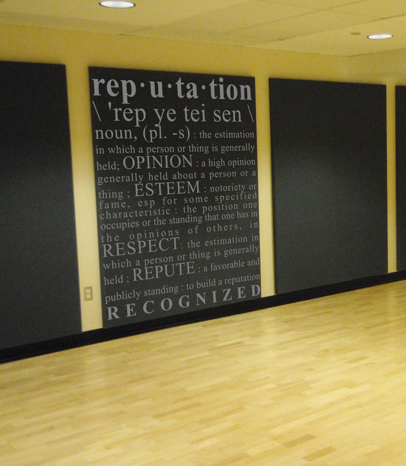 Reputation Definition Wall Decal