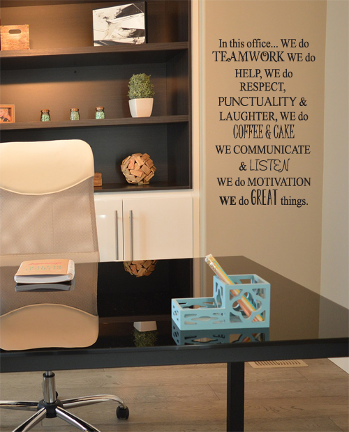 In This Office We Do Wall Decal