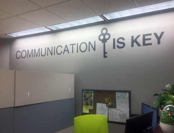 Communication is Key Wall Decal