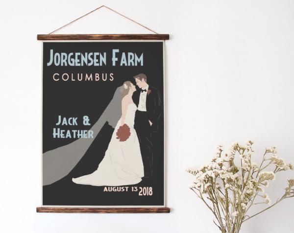 Bride and Groom Wedding Print