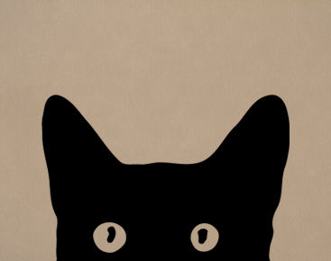 Peeking Cat Face Wall Decals Trading Phrases