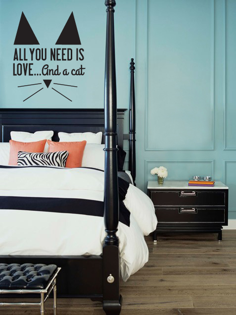 All You Need Is Whiskers Wall Decal