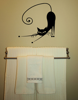 Cat Stretch Wall Decal