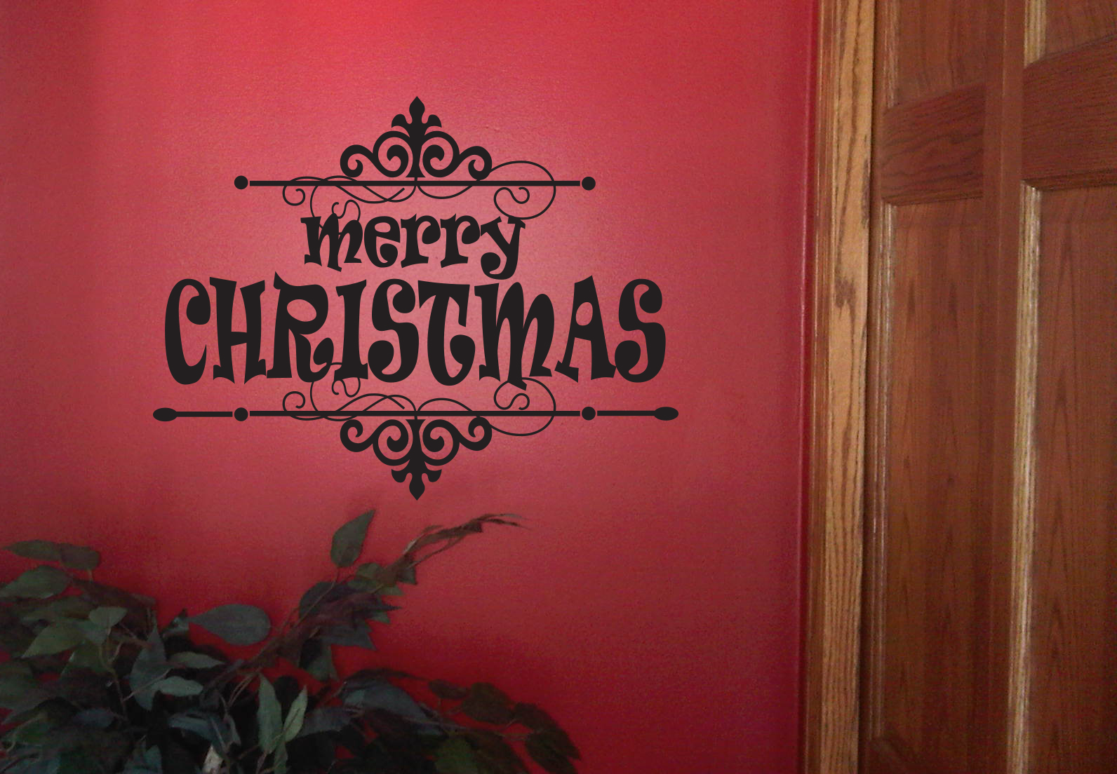 Merry Christmas  Frame | Wall Decals