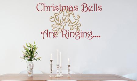 Christmas Bells Wall Decal