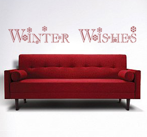 Winter Wishes Wall Decal