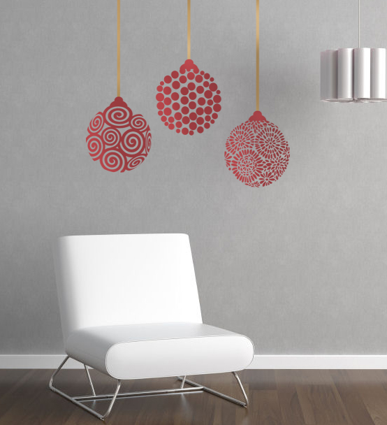 Funky Ornaments Wall Decal