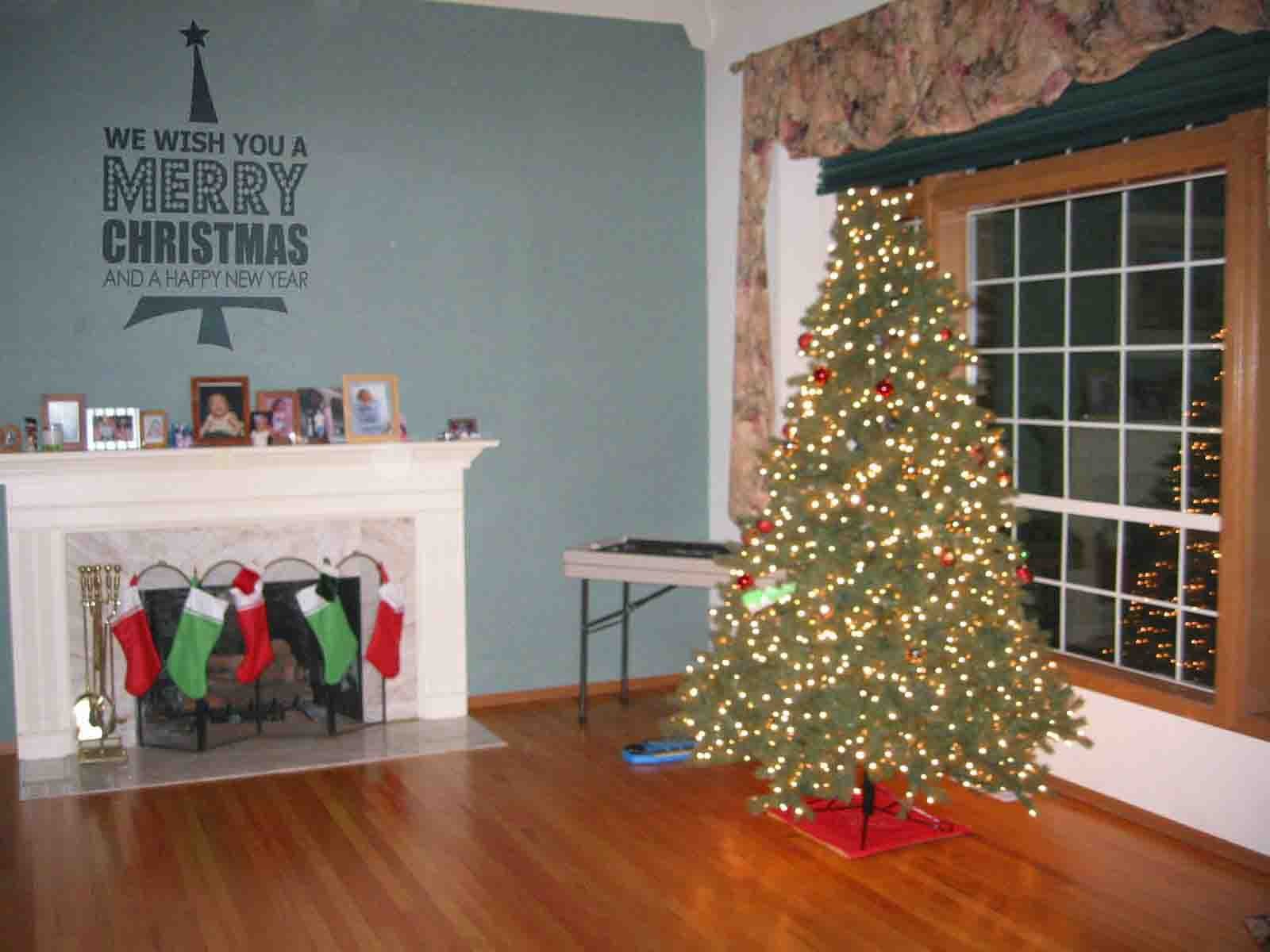 We Wish You Tree Decal