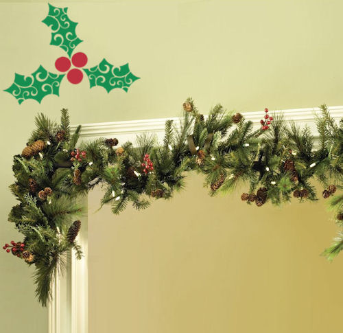 Holiday Holly Wall Decal
