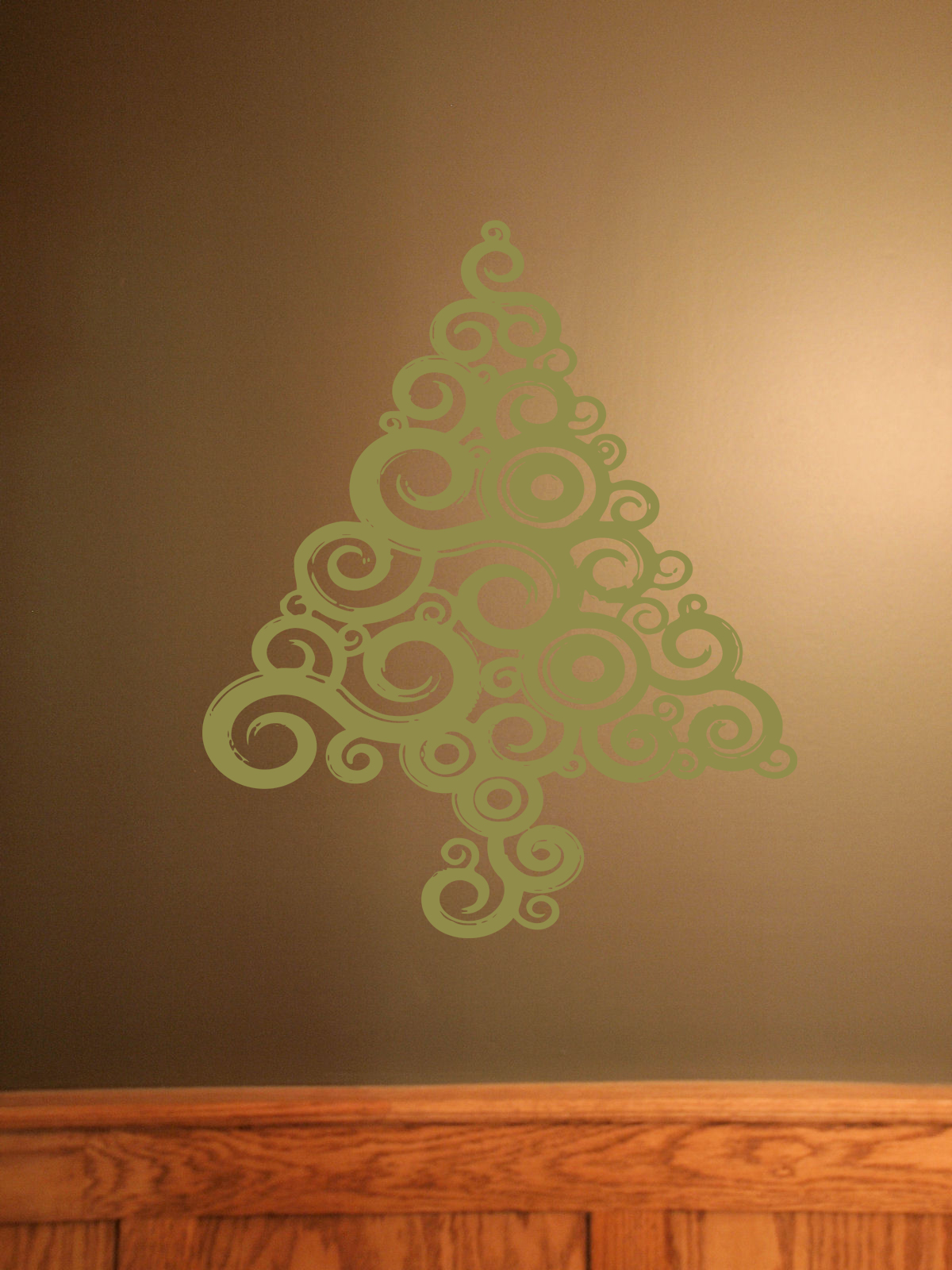 Swirly Christmas Tree Holiday Decal
