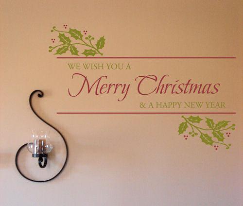 Christmas Holly Wall Decal