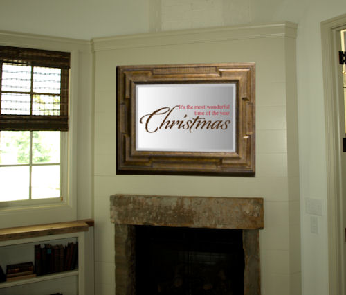 Christmas Wonderful Time Wall Decal