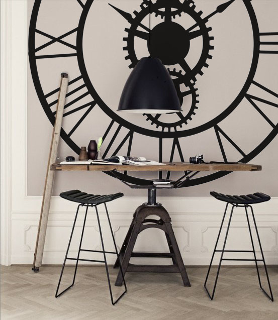 Roman Face Clock Wall Decal