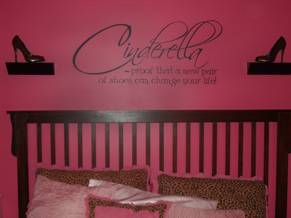 Cinderella Shoes Life Wall Decals
