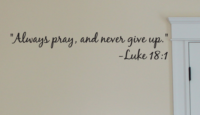 Always Pray Wall Decals