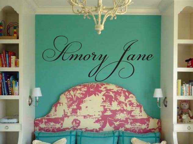 Champion Script Name Wall Decal