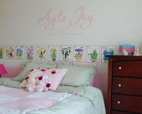 Dream Big Little Girl Wall Decal