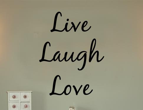 Live Laugh Love Blackjack Wall Decal