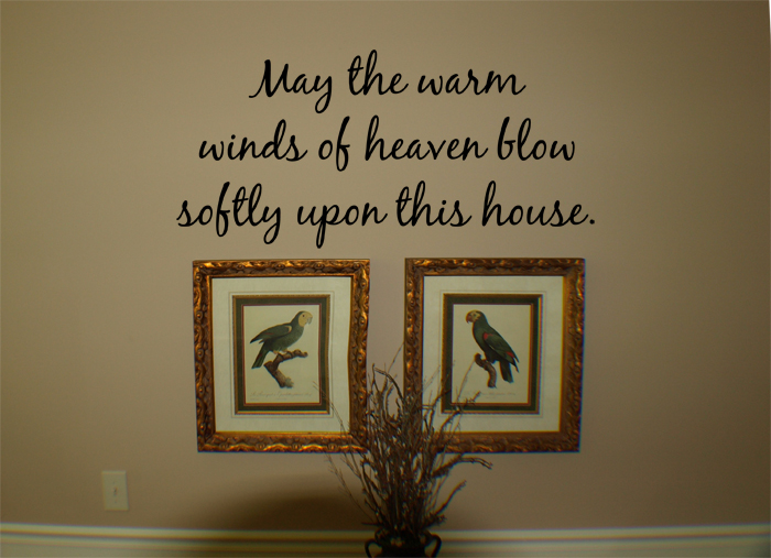 Blow Softly Wall Decal