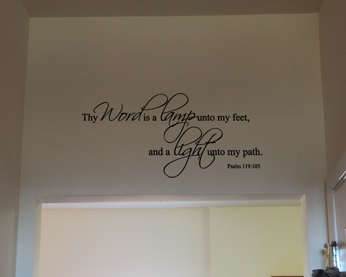 Light Unto My Path (with Two Colors) Wall Decal