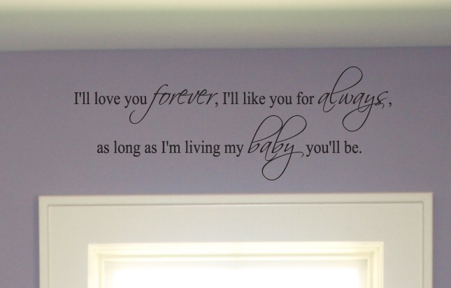 Forever Always My Baby Wall Decals