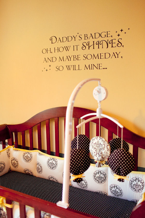 Daddy's Badge Wall Decals