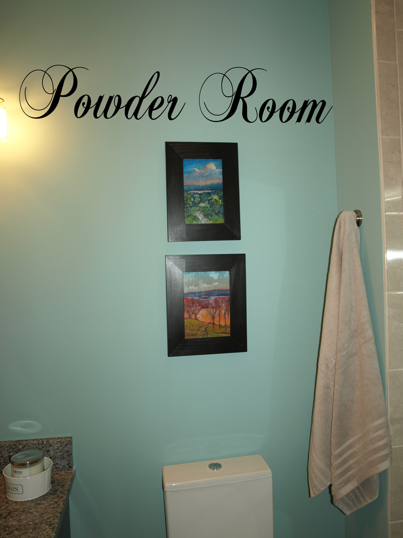 Powder Room Wall Decals Trading Phrases
