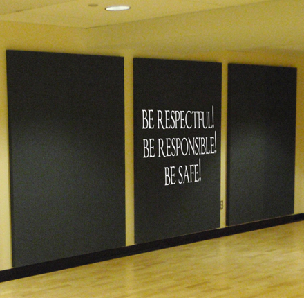 School Motto Wall Decal
