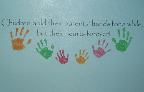 Children Hold Wall Decal