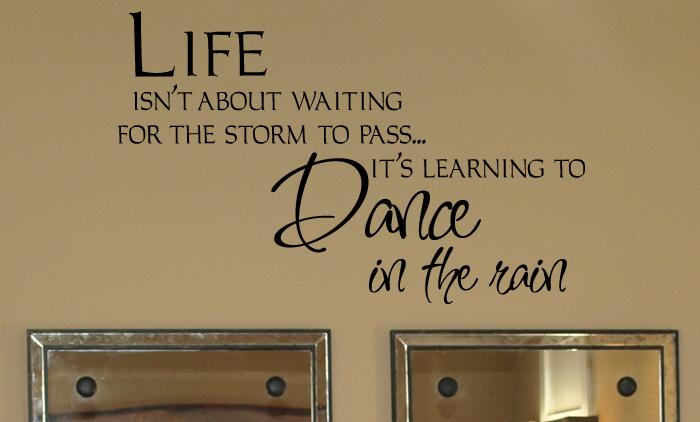 Dance In The Rain Decal