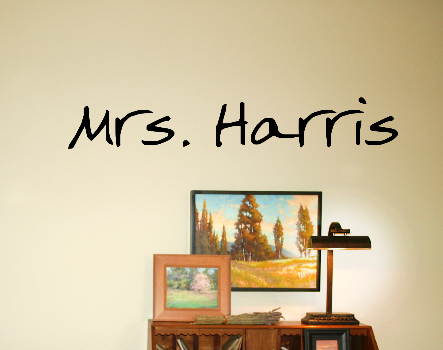 Teacher Name Wall Decal