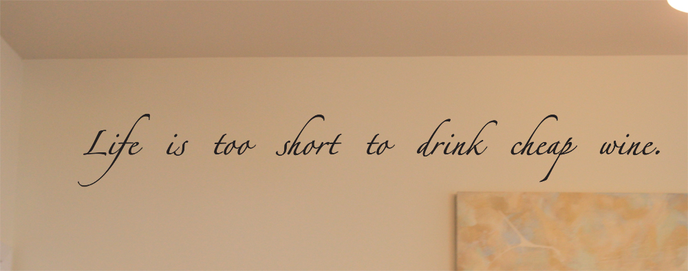 Cheap Wine Wall Decal