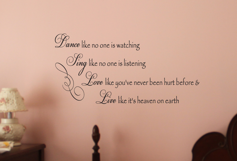 Dance Sing Love Live Wall Decal