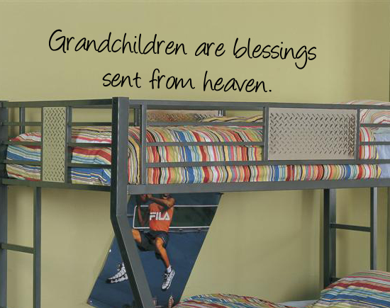 Grandchildren Are Blessings Wall Decal