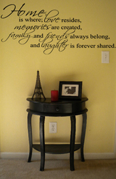 Home is Where Alternate Wall Decal