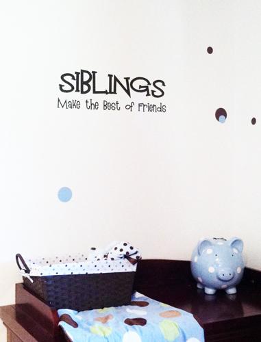 Siblings Best of Friends Wall Decal
