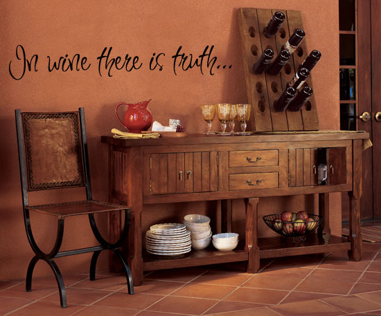 In Wine There Is Truth Wall Decal