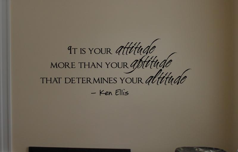 Attitude Aptitude Altitude Wall Decals