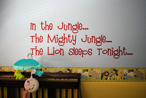 In The Jungle Wall Decal