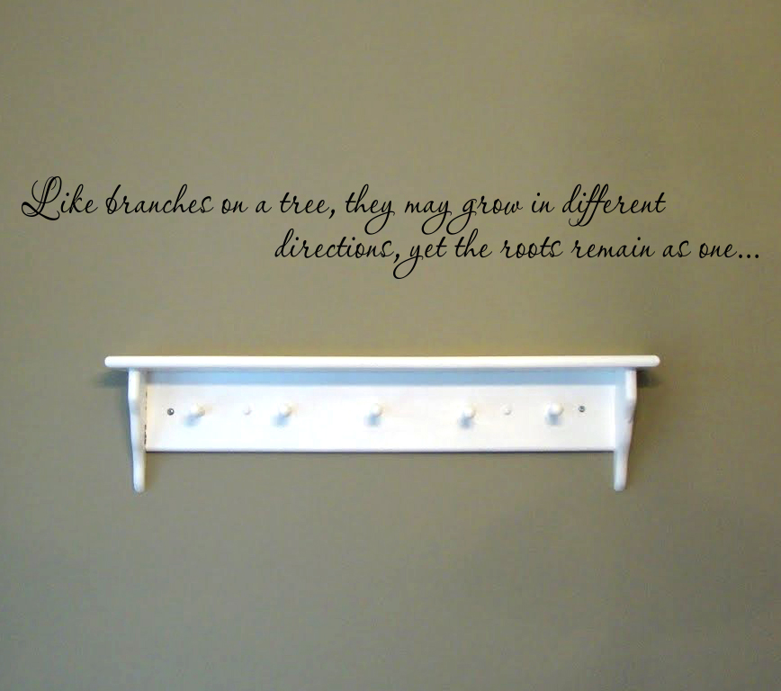 Family Tree Quote Wall Decal