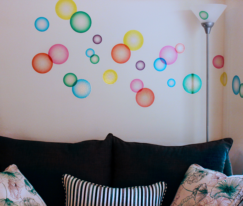 Colorful Bubble Printed Decals