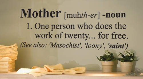 Mother Definition Funny Wall Decal