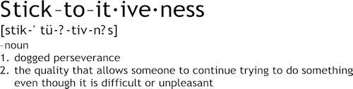 Sticktoitiveness Definition | Wall Decals