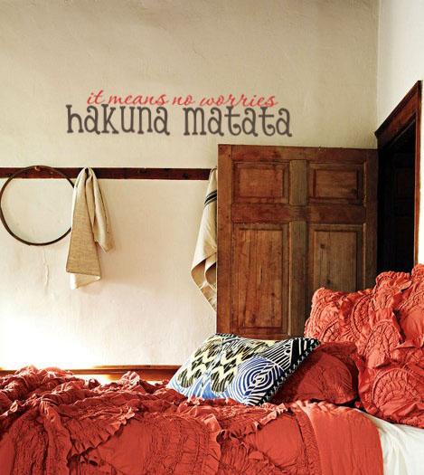 Hakuna Matata Wall Decal