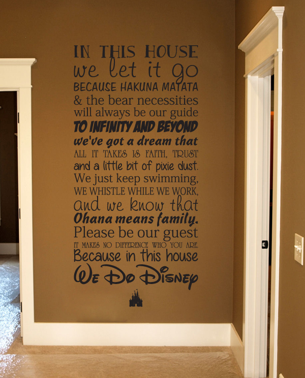 This Disney House Subway Wall Decal