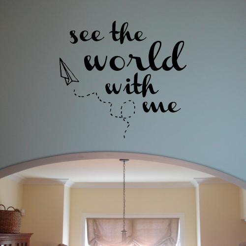 See The World With Me Wall Decal