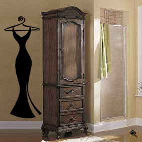 Little Black Dress Wall Decal