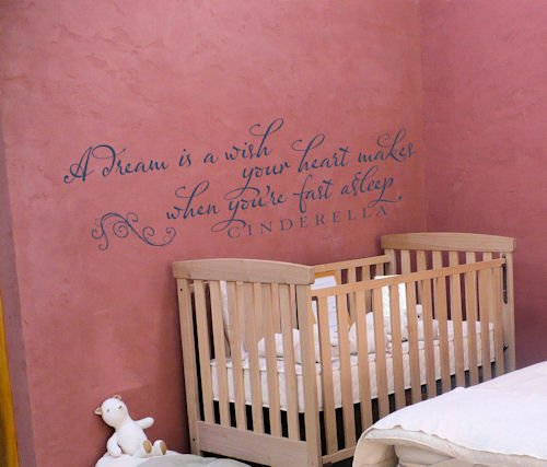 Dream Wish Calligraphy Wall Decal