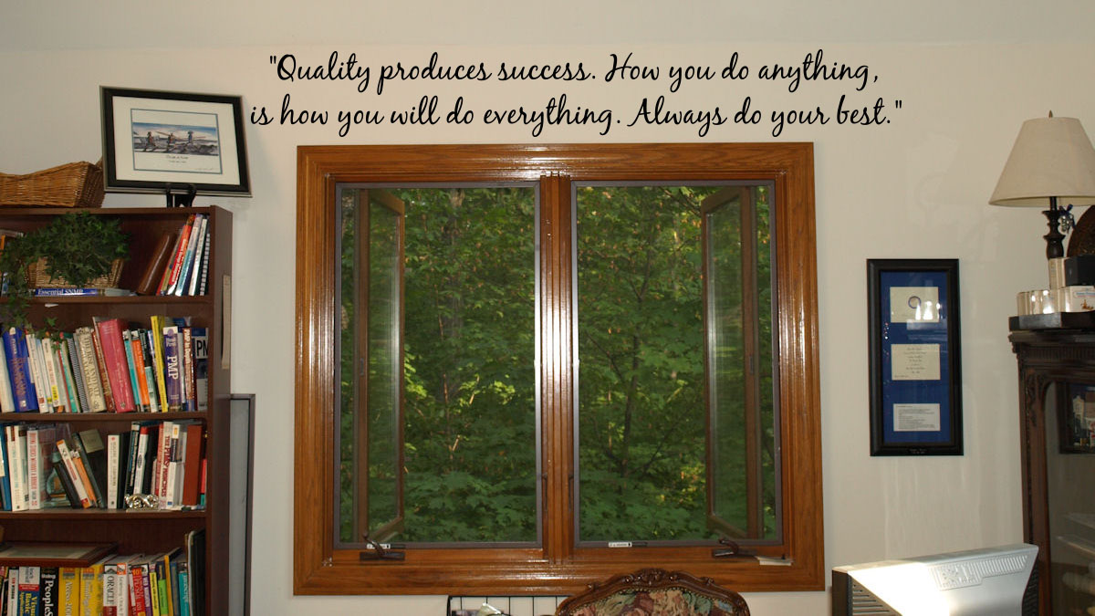 Quality Produces Success Wall Decal