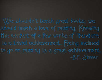Teach Love Of Reading Wall Decal Item